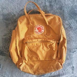 Yellow Kanken Fjallraven Backpack
